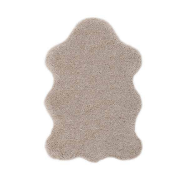 Weiches Fell in taupe, beige